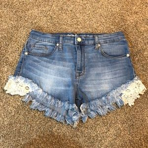 High Rise Jean Shorts super stretch